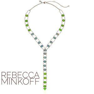 Rebecca Minkoff  Athena Y-Shaped Opal Necklace NWT